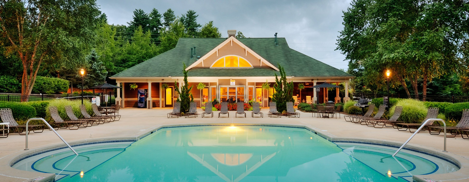Large resort-style pool by Forest at Biltmore clubhouse